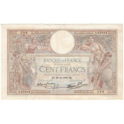 100 Francs LUC OLIVIER MERSON 29-12-1938 Fayette 25.37