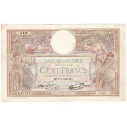 100 Francs LUC OLIVIER MERSON 06-07-1939 Fayette 25.48