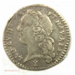 Louis XV – 1-20ème Ecu 1747 N Montpellier R3