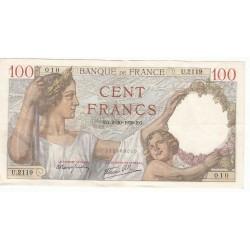 100 Francs SULLY 5-10-1939 TTB+  Fayette 26.9