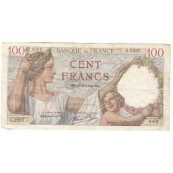 100 Francs SULLY 5-10-1939 TTB  Fayette 26.9
