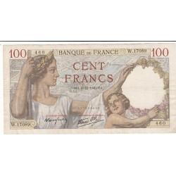 100 Francs SULLY 05-12-1940  TTB+  Fayette 26.42