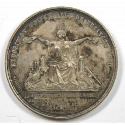 Médaille Zinc Napoléon III Exposition Uni BESANCON 1860