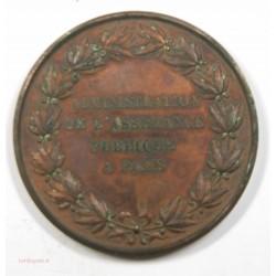 Médaille Administration de l'assistance Publique à Paris 1866