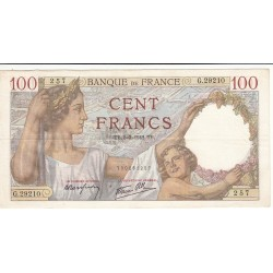 100 FRANCS SULLY 05-03-1942 Fayette 26.67