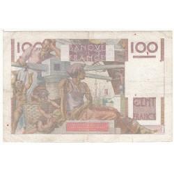 100 FRANCS JEUNE PAYSAN 16-11-1950 TB+ Fayette 28.28