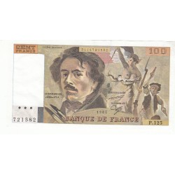 100 FRANCS DELACROIX 1987 SUP+  Fayette 69.11