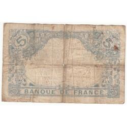 5 FRANCS BLEU 2 Janvier 1913 TB  Fayette 2.13