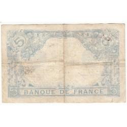 5 FRANCS BLEU 29 Sept.1915 TB Fayette 2.31