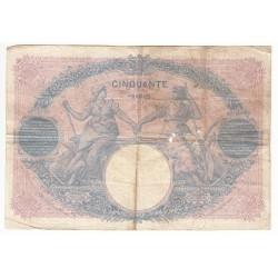 50 FRANCS BLEU ET ROSE 18-06-1906  TB  Fayette 14.18
