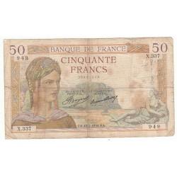 50 FRANCS CERES 17-01-1935 TB Fayette 17.3