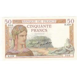50 FRANCS CERES 17-01-1935 TTB+ Fayette 17.3
