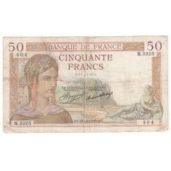 50 FRANCS CERES 31-10-1935 TB Fayette 17.19