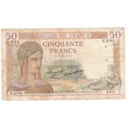50 FRANCS CERES 16-07-1936 TB Fayette 17.28