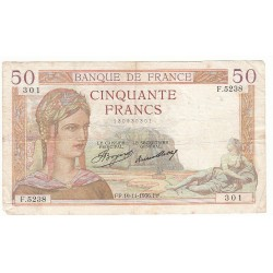 50 FRANCS CERES 19-11-1936 TB Fayette 17.31