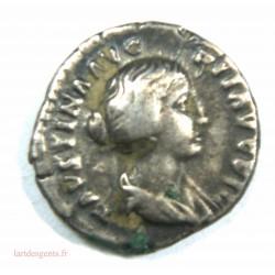 Romaine – Denier FAUSTINE jeune – 154-156 ap. JC