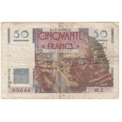 50 FRANCS LE VERRIER 14-03-1946 TB Fayette 20.1