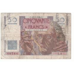 50 FRANCS LE VERRIER 28-03-1946 TB Fayette 20.2
