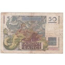50 FRANCS LE VERRIER  07-06-1951  TB-  Fayette 20.18