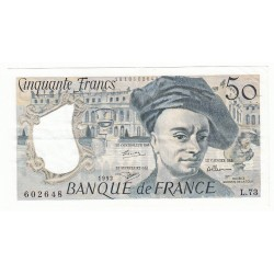 50 FRANCS QUENTIN DE LA TOUR 1992 TTB+ Fayette 67.18
