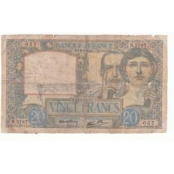 20 FRANCS SCIENCE ET TRAVAIL 08-05-1941 B Fayette 12.14