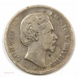 ALLEMAGNE – 2 MARK 1877 D LUDWIG II BAYERN