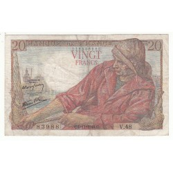20 FRANCS PECHEUR 05-11-1942 TB