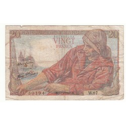 20 FRANCS PECHEUR 15-04-1943 TB