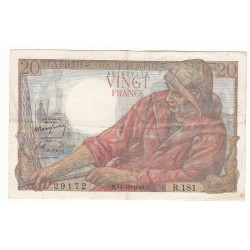 20 FRANCS PECHEUR 14-10-1948 TTB Fayette 13.13