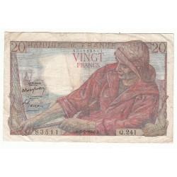 20 FRANCS PECHEUR 09-02-1950 TB+ Fayette 13.13