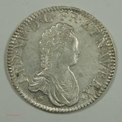 Ecu LOUIS XV 1716 N Montpellier rf Vertugadin SUP