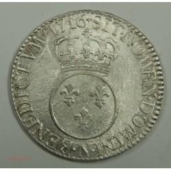 Ecu LOUIS XV 1716 N Montpellier rf Vertugadin