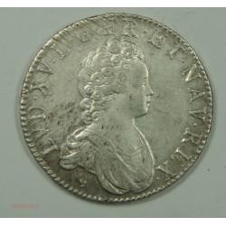 Ecu LOUIS XV 1716 D Lyon fn Vertugadin SUP