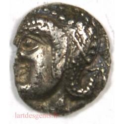 MARSEILLE – Obole Milésiaque à la tête d' Artémis – 480-470 av. J.C