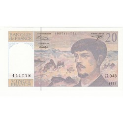20 FRANCS DEBUSSY 1993 P/NEUF  Fayette 66bis.4