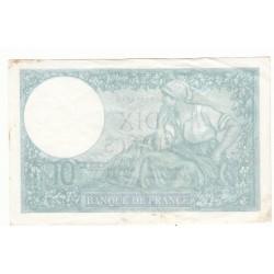 10 FRANCS MINERVE 09-01-1941  TTB+   Fayette 7.27