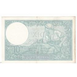 10 FRANCS MINERVE 04-12-1941  TTB+   Fayette 7.30
