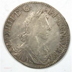 DEMI ECU LOUIS XIV 1660 L BAYONNE BUSTE JUVENILE