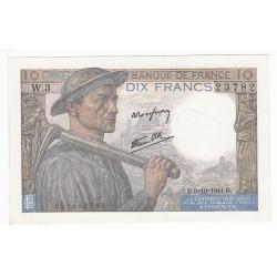 10 FRANCS MINEUR 9-10-1941 P/NEUF Fayette 8.2