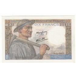 10 FRANCS MINEUR 26-11-1942 P/NEUF Fayette 8.6