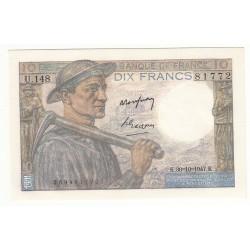 10 FRANCS MINEUR  30-10-1947 NEUF  Fayette 8.18