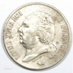 5 Francs 1823 Q PERPIGNAN– LOUIS XVIII Tête nue