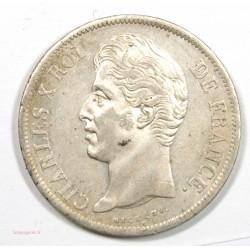 5 Francs 1829 D LYON – CHARLES X 2ème Type