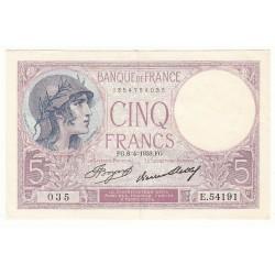 5 FRANCS VIOLET 06-04-1933 SPL Fayette 3.17