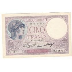 5 FRANCS VIOLET 04-05-1933 SUP Fayette 3.17