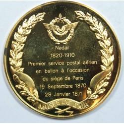 Médaille Vermeil –NADAR 1820-1910