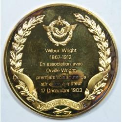 Médaille Vermeil – WILBUR WIRGHT – 1867-1912