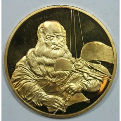 Médaille Vermeil – LEONARD DE VINCI – 1452-1519