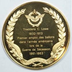 Médaille Vermeil – THADDANS C. LOWS -1832-1913