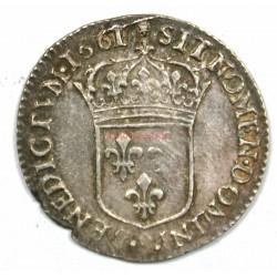 Douzième de Louis XIV 1661 R Villeneuve -Buste Juvénile